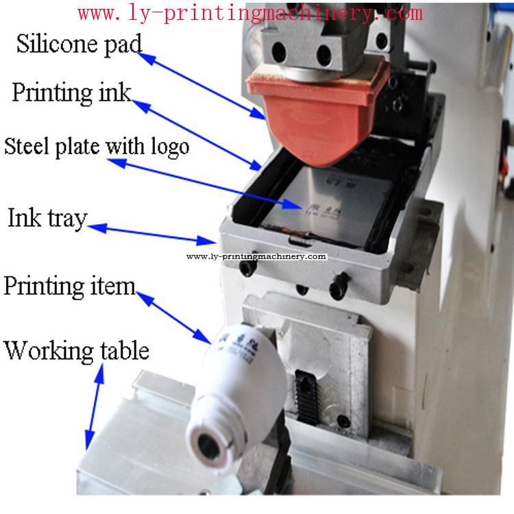 100x150mm ink tray 1 color pad printer
