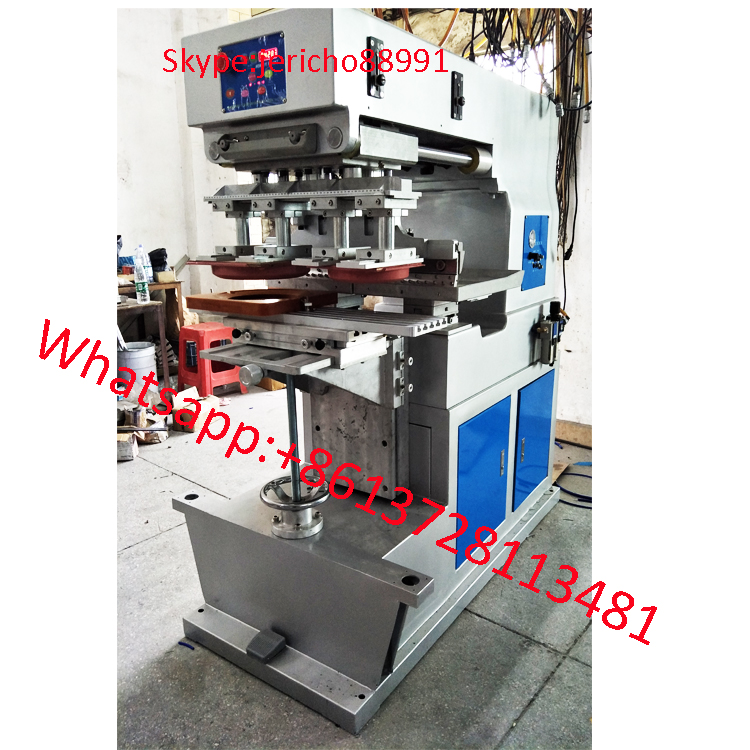 2 head 1 color big pad printing machine