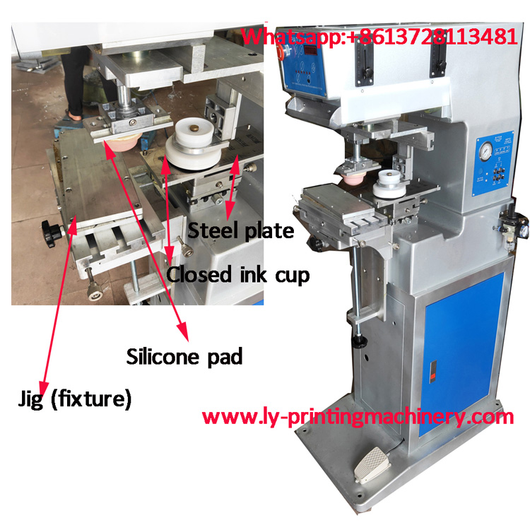 Closed ink cup 1 color pad printing  machine LY-MP1-100C